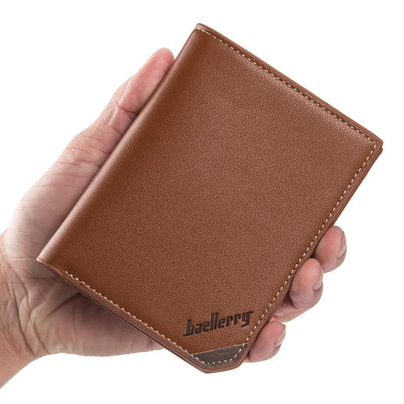 все цены на Baellerry Brand Wallet Men Short Coin pocket Purse High Quality Wallets with portfolio Purses Gift Men Card Holder Bifold Purse