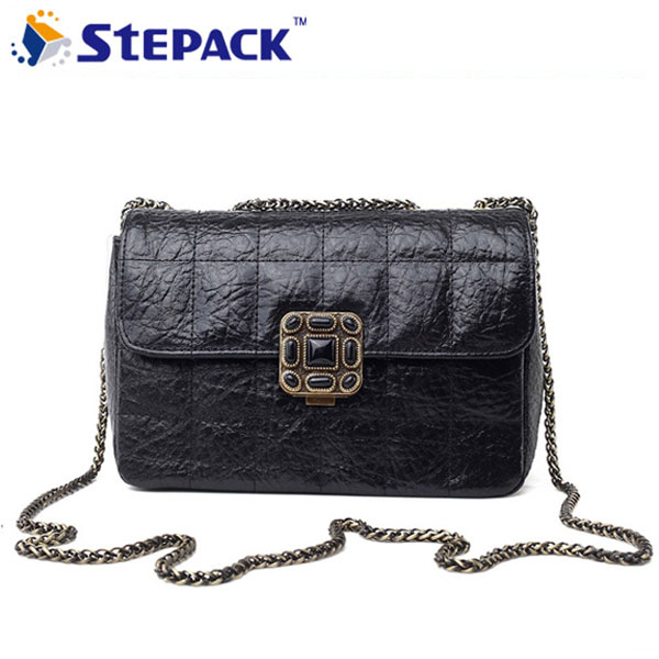 цены  New Gold Chain Women Messenger Bags Fashion Brand Bag Geniuner Leather Handbag Mini Girls Shoulder Crossbody Bags WMB0080
