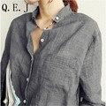 Vetement Femme Женщина Одежда Женская Верхняя Одежда Мода 2016 Blusas Femininas Женские Блузки Белье Блузка Белая Рубашка Плюс Размер Roupas