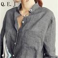 Vetement Femme Mulher Roupas Partes Superiores das mulheres Da Moda 2016 Blusas Camisa Plus Size Roupas Femininas Mulheres Blusas Blusa De Linho Branco