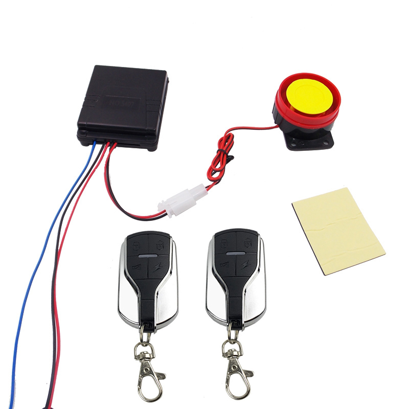 DC 12V Scooter Remote Alarm One Way Motorcycle Anti-theft Security System Motorbike Cheap Alarms Motor Protection 125dB Siren