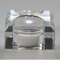 Rechargeable K9 Crystal Square LED Light Base Stand For Jewelry Watch Gifts 2d 3d Laser Crystal
