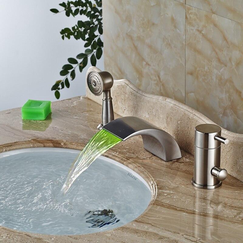 Deck Mount Vintage Bath Faucet Single Handle Waterfall