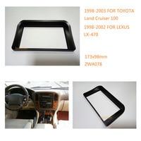 Car Radio Fitting Kit Installation Fascia For Toyota Land Cruiser 100 1998 2003 For Lexus LX