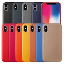 Original Official  Case For iPhone Xs MAX XR 7 8 Plus X 5 5s se Luxury PU Leather Case Logo For iPhone 6 6s Plus Back Cover