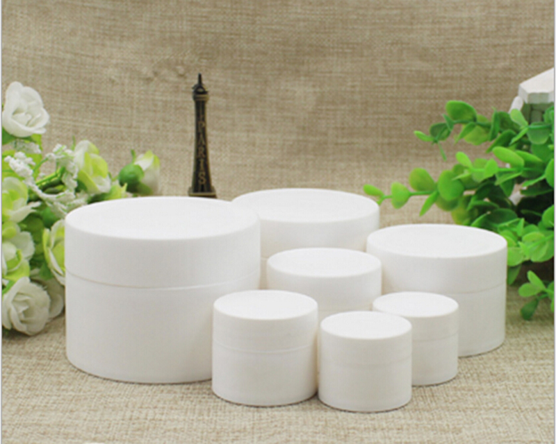 10pcs 3g/5g/10g Jars For Cosmetic Cream White Cosmetic Jar With Inner Cap Refillable Bottle Empty Bottle PJ89