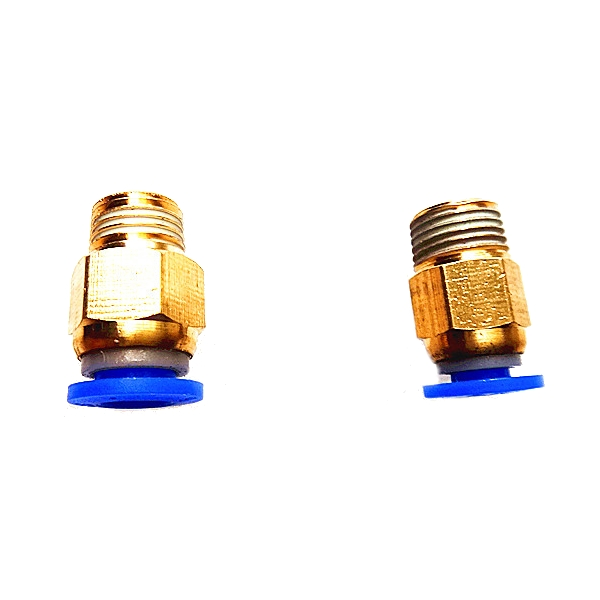 1.75mm3mm Brass Pneumatic Connector Quick Joint For 3D Printer Remote Extruder