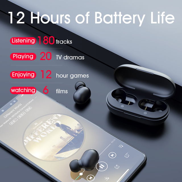 Haylou GT1 TWS Fingerprint Touch Bluetooth Earphones, HD Stereo Wireless Headphones,Noise Cancelling Gaming Headset 3