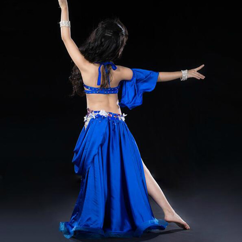 New design Tops+Skirt  Oriental belly Dancing Costume Outfits for kids/children Sexy bellydance Set Dresseses Suits  S/M/L