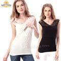 Camisa de maternidad Lactancia Top Undershirt Camis Sin Mangas Vestidos Para Las Mujeres Embarazadas Modal Tank Tops Ropa De Enfermería