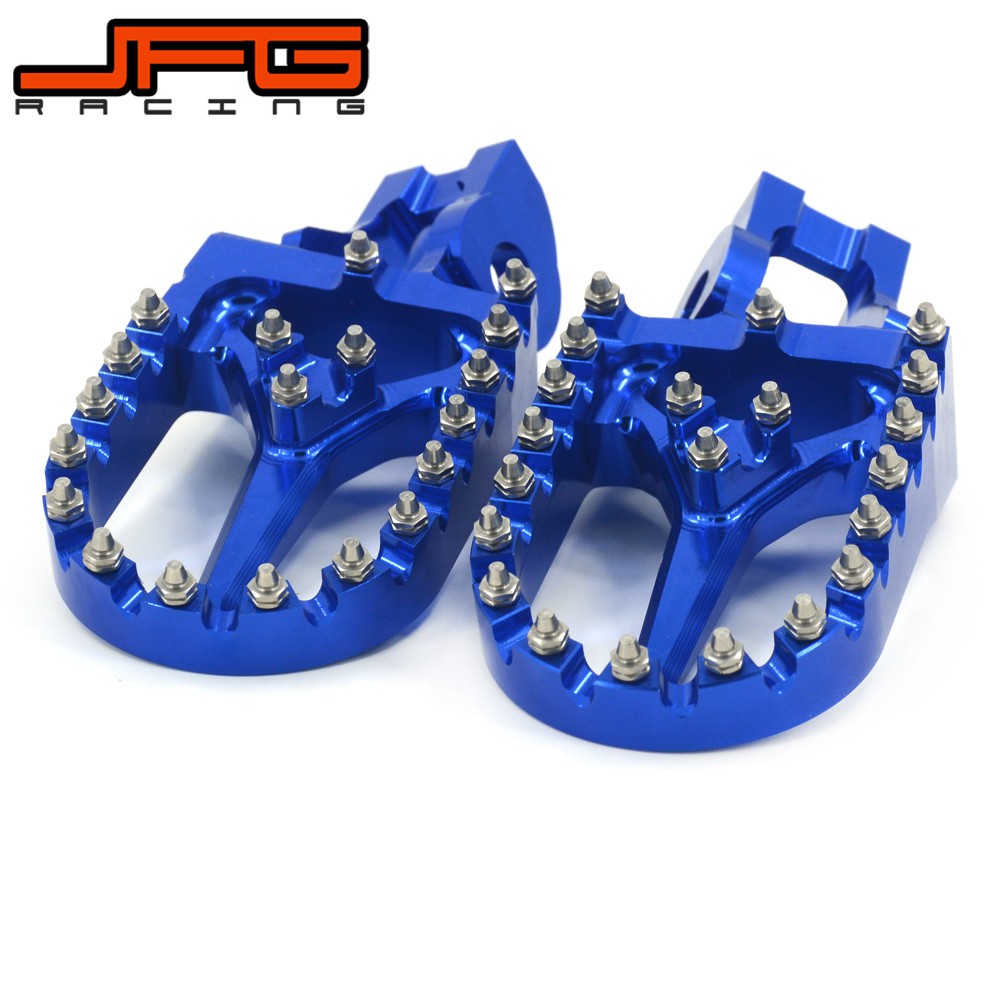 Motorcycle Billet MX Foot Pegs Rests Pedals For TC125 FC250 350 450 16-17 TC250 TX125 TX FX 300-450 TE FE 150-501 2017 meziere wp101b sbc billet elec w p