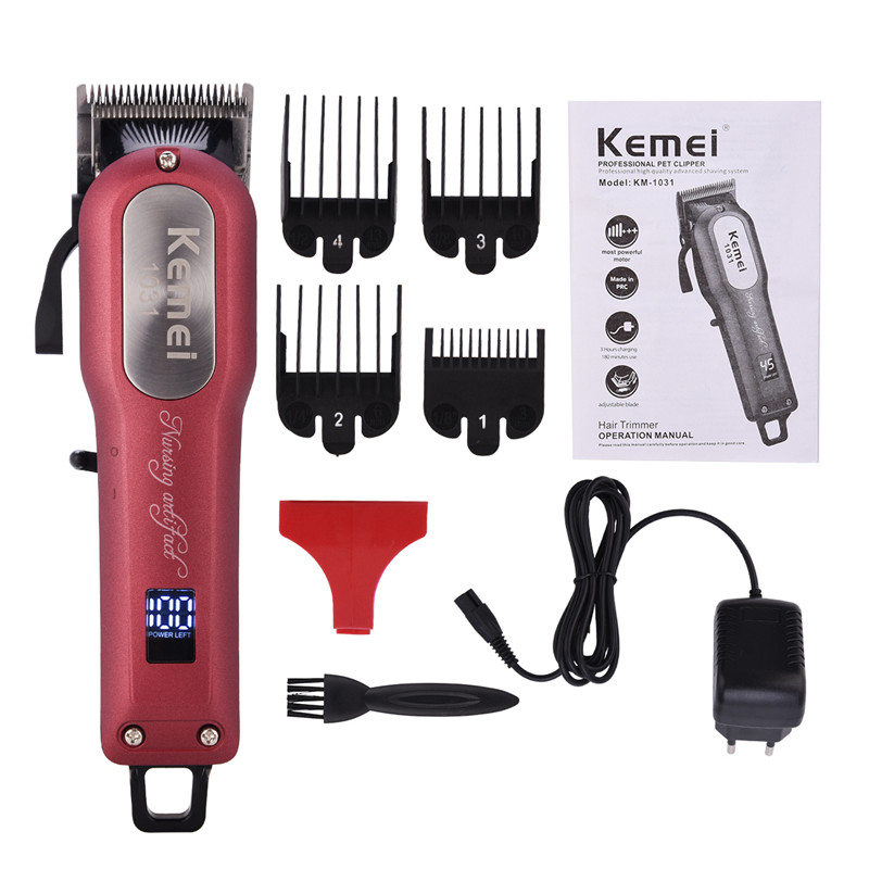 100-240V Kemei Professional Hair Clipper Electric Hair Trimmer Rechargeable Shaver Razor Shaving Machine Barber Styling Tools100-240V Kemei Professional Hair Clipper Electric Hair Trimmer Rechargeable Shaver Razor Shaving Machine Barber Styling Tools