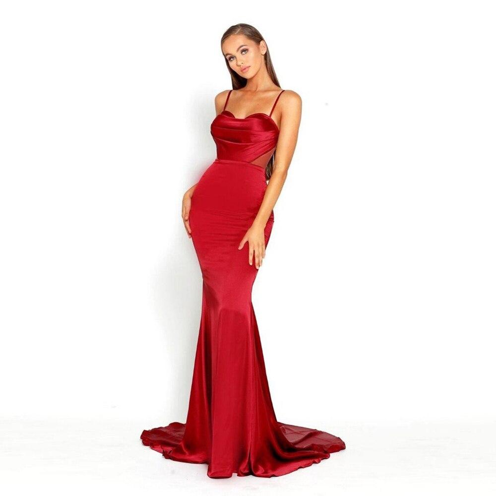 Seksi sjajna Satin Maxi haljina izdubiti leđa večernje haljine podne haljine