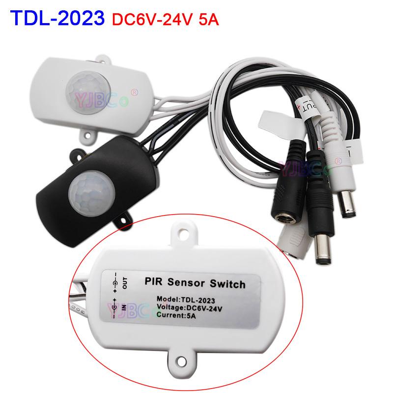 DC 5V 12V 24V Body Infrared USB PIR Switch Motion Sensor Human Detector LED Strip Light Lamp