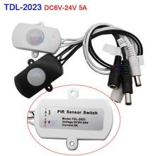 купить DC 5V 12V 24V Body Infrared USB PIR Switch Motion Sensor Human Motion Sensor Detector LED Strip Light Lamp DC Switch дешево