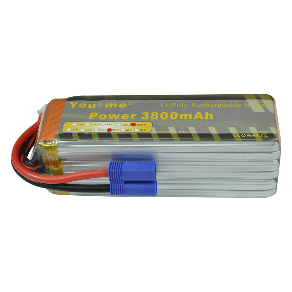 Youme 6S 3800MAH 22.2V 35C max 70C Lipo Battery For RC Helicopter Boats Cars Quadcopter