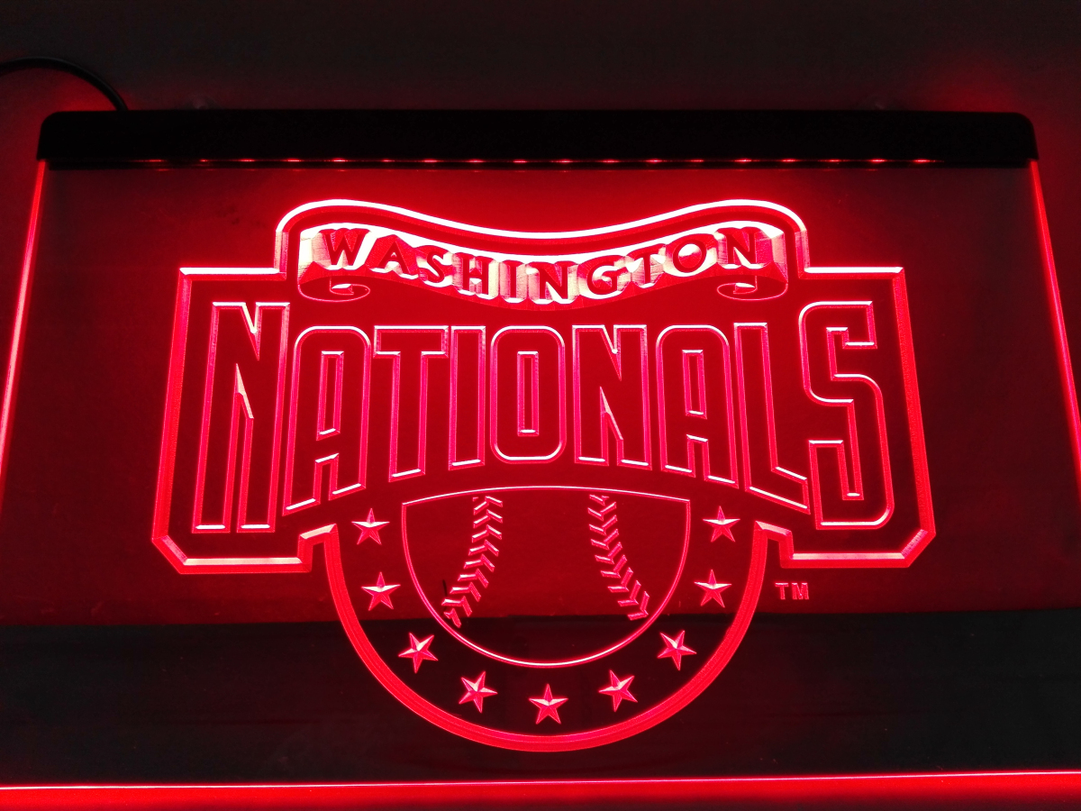 ld144 washington nationals led neon light sign home decor crafts in plaques signs from home. Black Bedroom Furniture Sets. Home Design Ideas