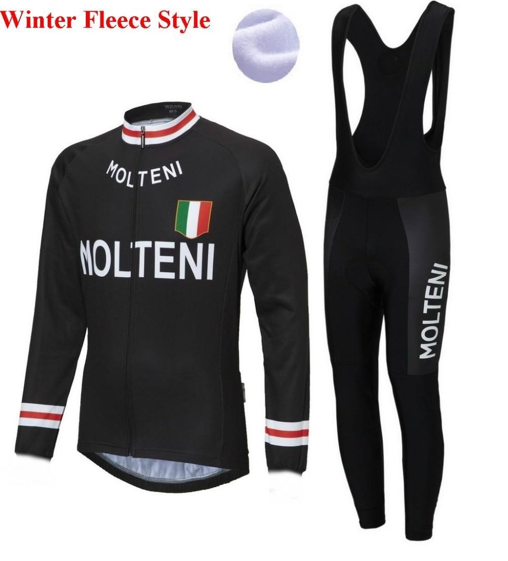 maillot Molteni Retrol winter cycling clothing Bike Jersey Bib Pants  fietskleding wielrennen winter heren set 0690c4e88