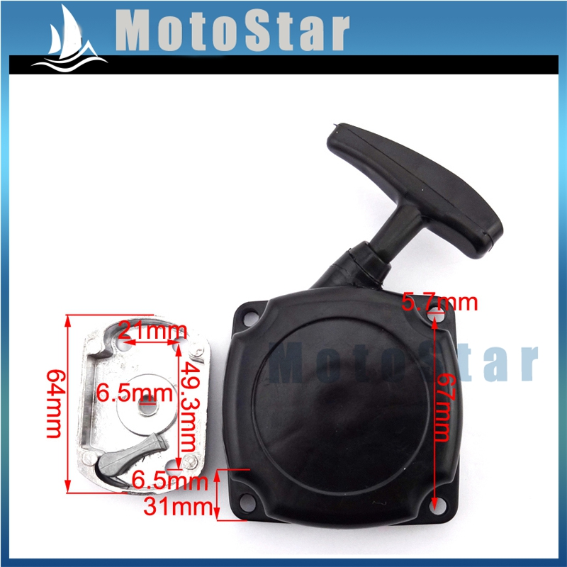 US $6 72 38% OFF Pull Start Recoil Starter + Claw Pawl Cog For 2 Stroke  33cc 36cc 43cc 49cc Engine Petrol Gas Goped Stand Up Scooter Gsmoon-in