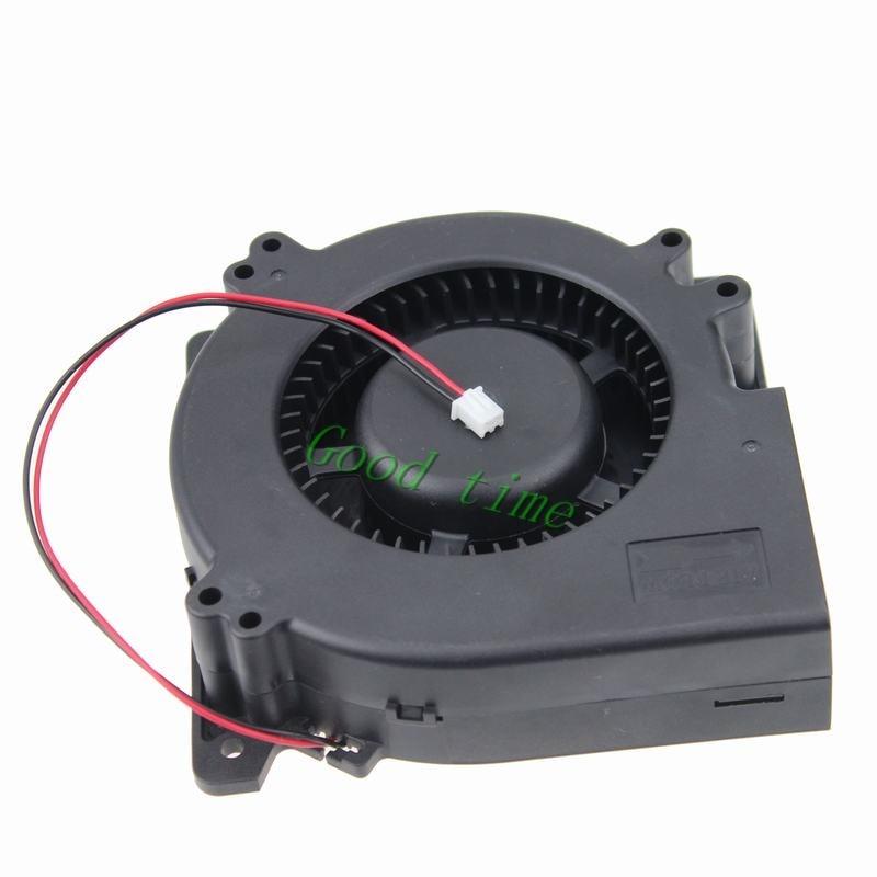 1 piece Gdstime 5 inch Blower Fan 120mm x 120mm x 32mm 2 Pin 2 Wire DC Brushless Cooling Fan 24V 12032s free shipping for nmb bg1203 b058 p00 l2 dc 24v 1 30a 3 wire 3 pin connector 50mm 120x120x32mm server blower cooling fan