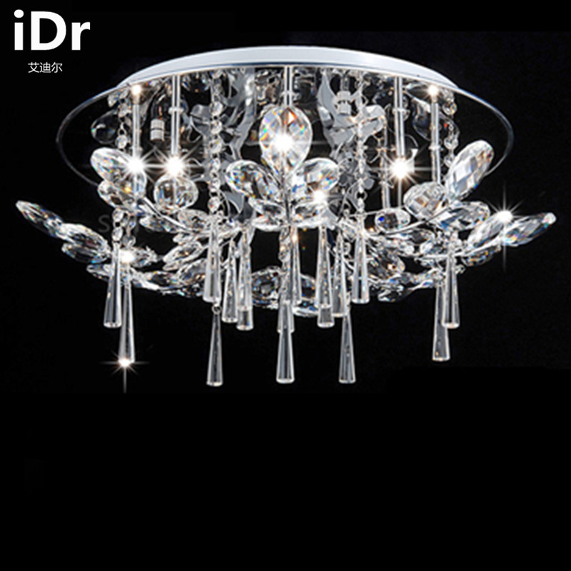 Japan Style living room crystal lamp modern circular living room led ceiling lights remote master bedroom free delivery luxury lamp led crystal smoke gray living room restaurant bedroom modern low voltage lights circular fashion ceiling lights