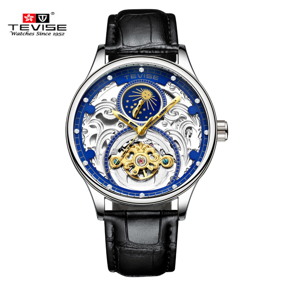 TEVISE Mens Watch Automatic Mechanical Watch For Men Waterproof Genuine Leather Watches Relogio Masculino Business Man ClockTEVISE Mens Watch Automatic Mechanical Watch For Men Waterproof Genuine Leather Watches Relogio Masculino Business Man Clock