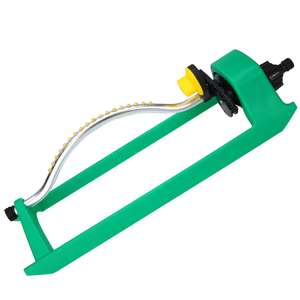 Image 2 - 18Jets Oscillating Lawn Water Sprinkler Watering Garden Pipe Hose Water Flow