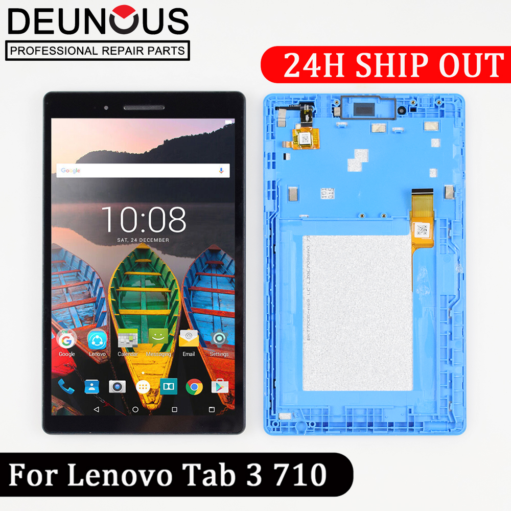 New 7 LCD Display With Touch Screen Digitizer For Lenovo Tab 3 7.0 710 Essential tab3 710 TB3-710L TB3-710I TB3-710F LCD Display tab3 7 0inch 710f tempered glass screen protector for lenovo tab 3 7 0 710 essential tab3 tb3 710f 710l 710i protective glass