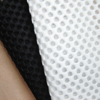 1Piece black white Sandwich air layer mesh fabric french designer show garment material clothing tissue handmade sewing cloth