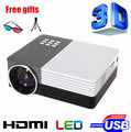 Biggest Sale Mini Digital LED pico portable Video 3D LCD HD Projector support 1080P Perfect Home theater Projector