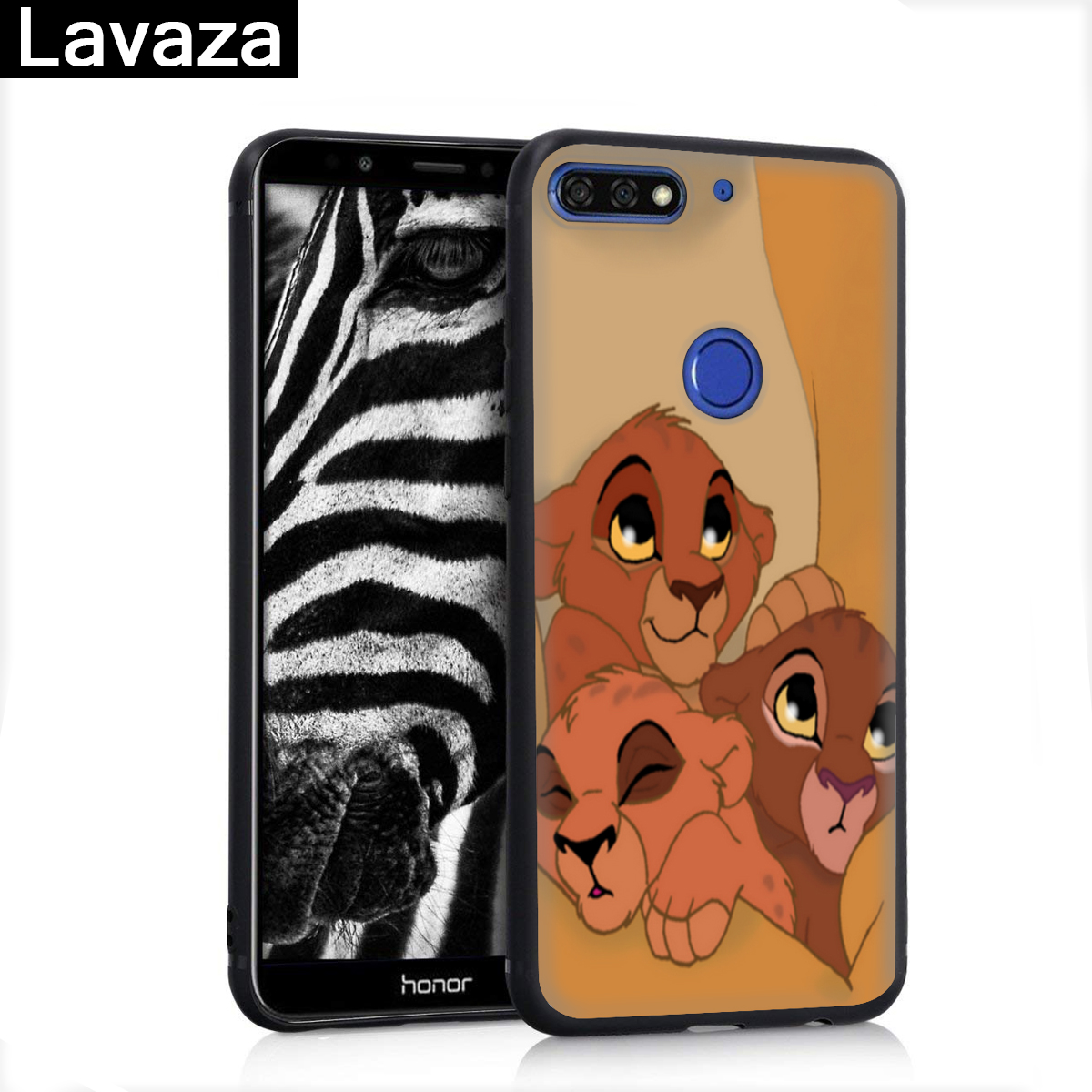 Lavaza Lion King Hakuna Matata Silicone Case for Huawei P8 Lite 2015 2017 P9 2016 Mini P10 P20 Pro P Smart 2019 P30 in Fitted Cases from Cellphones Telecommunications
