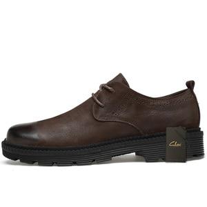 Image 4 - Claxメンズ革靴本革春の秋のデザイナーメンズカジュアルウォーキングシューズfootwar冬毛皮chaussureオムプラスサイズ