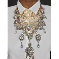 Best lady Fashion Women Pendant Statement Necklace Multicolor Charm Bohemian Wedding Shiny Choker Necklace Party Gift Wholesale