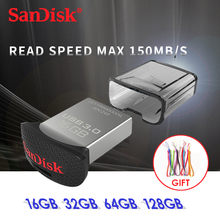 Sandisk ULTRA FIT USB 3.0 FLASH DRIVE up to 130m/s SDCZ43 64gb 32gb 16gb Support Official Verification