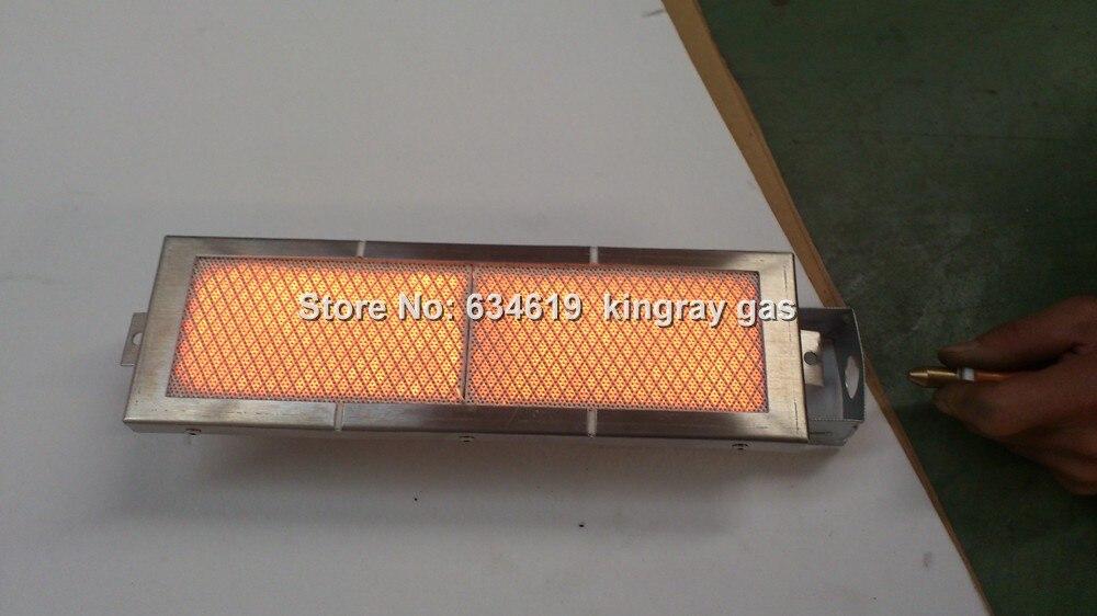 bbq gas ceramic plate infrared burner, gas stainless steel burner for grill, kebab,roast etc