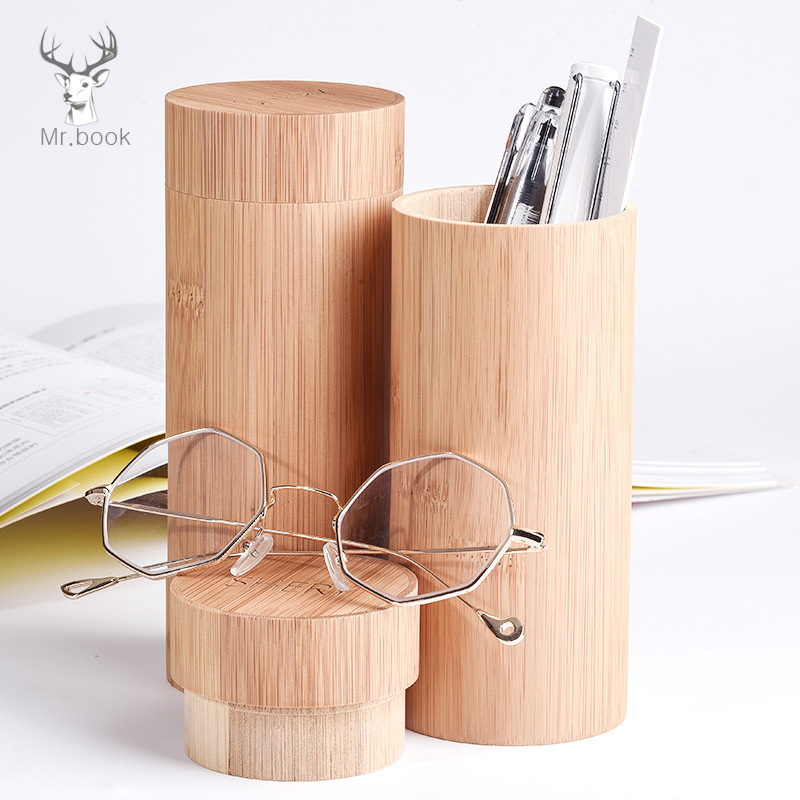 Multifunction School Pencil Case Box Eye Glasses Holder Box Large Capacity Bamboo Pen Curtain for Students Gifts Stationery 220803 eva large capacity stationery bags men and women primary school students pencil box wholesale stationery box