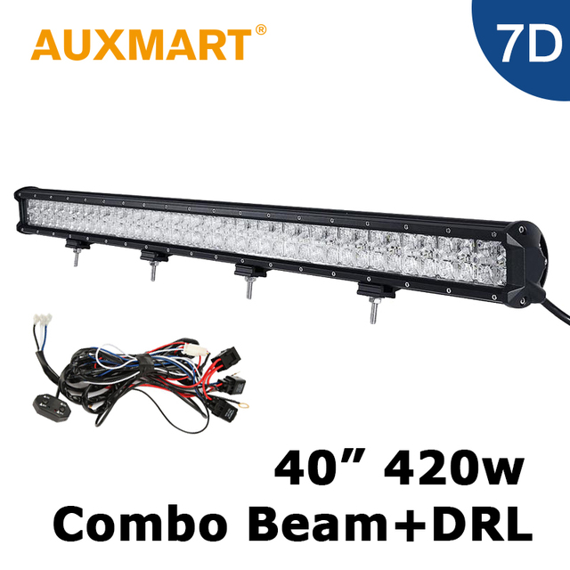 Auxmart 7d led bar 40 inch 420w led light bar cross drl offroad auxmart 7d led bar 40 inch 420w led light bar cross drl offroad vehicle pickup mozeypictures Images