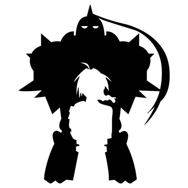 15cm*17.7cm Fullmetal Alchemist(FMA) Anime Vinyl Car Styling Car Sticker Black/Silver