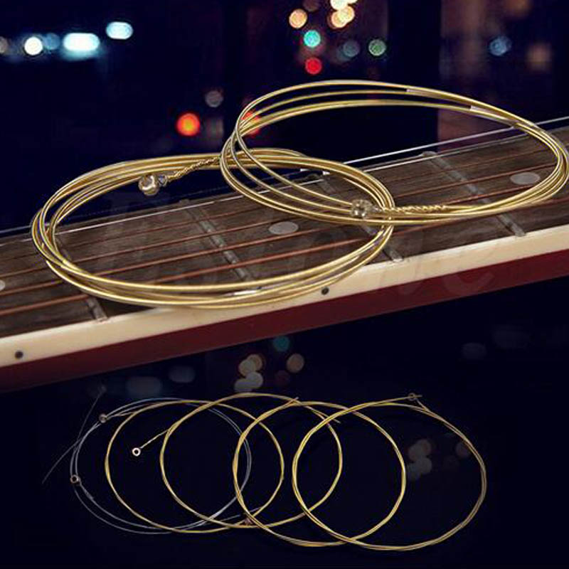 6Pcs/Set Acoustic Guitar Strings Nickel Plated Steel Practice Guitar String E-A For Acoustic Folk Guitar Classic Guitar