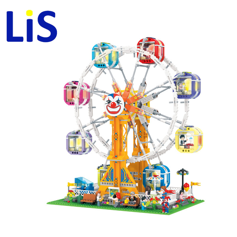Lis 7036 New City Sreet Ceator Carousel Model Building Blocks Toy Bricks Compatible with Lepin blocks Kids Toys Gifts 1506pcs lepin 15013 city sreet carousel model building kits blocks toy compatible 10196 with funny children educational lovely gift toys