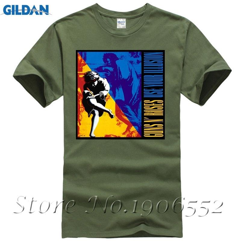 Mens Short Sleeve Print Large Size Tshirts Novelty GUNS N ROSES T-shirt For Men Christmas Gift Brand Style Short Sleeve