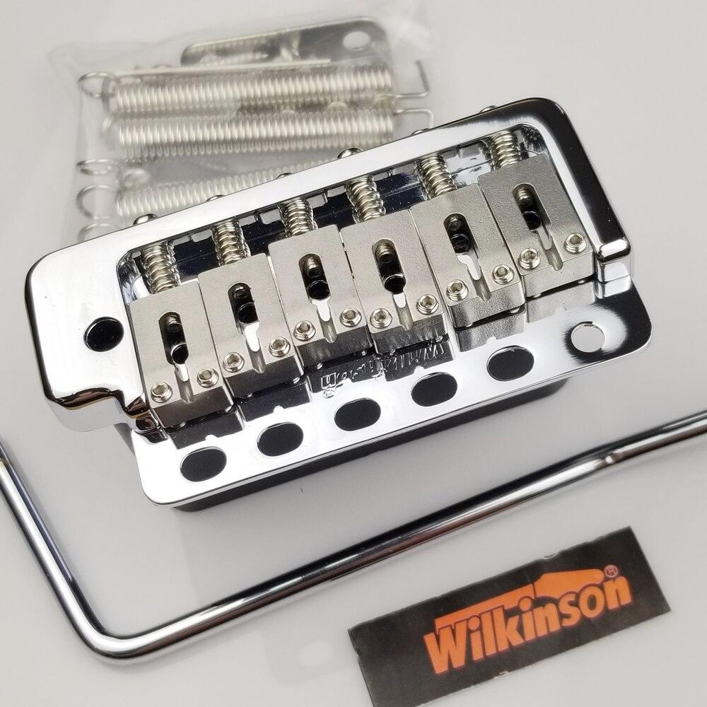 Wilkinson WVP6 Chrome argent ST guitare électrique système tréolo pont + selles en acier inoxydable fabriquées en corée