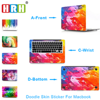 HRH Doodle 3 In 1 Laptop Decal Sticker Case For Apple Macbook Air Pro 11 12