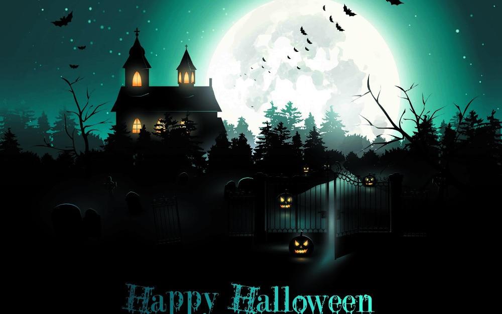[B13WS] HD home Wallpaper Pumpkin Witch Halloween Party ...