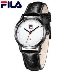 Fila Men Watch Women Watch Couple Quartz Wristwatch High Quality Luxury Top Italy Brand Fashion Auto Date Leather Strap 618