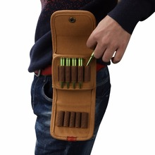 2015 Tourbon Designer Hunting Accessories Canvas & Leather Cartridge Holder Tactical Ammo Pouch Rifle Stock Bandolier Bag tourbon hunting gun accessories brown real leather bandolier shotgun shell holder cartridge ammo belt tactical