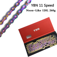 YBN 11 Speed Bicycle Chain Super cool Neon Like 120L 260g MTB Road Bike Chain For Shimano SRAM Campanolo System