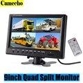 9 Polegada TFT LCD Monitor de Encosto de Cabeça Do Carro Suporte a Exibição de 4 Divisão tela Para Retrovisor Camera DVD VCR Com Controle Remoto-Car styling