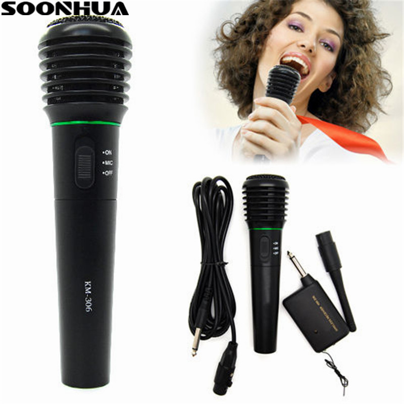 new wireless microphone karaoke singing dj professional handheld wireless cordless wired. Black Bedroom Furniture Sets. Home Design Ideas