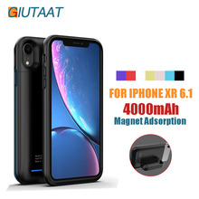 Magnet Adsorption Disassembly Battery Case 4000 mah for iPhone XR 6.1 Rechargeable Power Bank Charger Battery Cover for XR